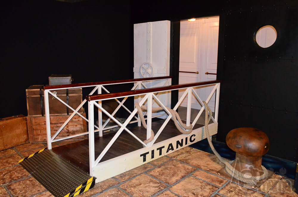 Titanic the Exhibition trap statku