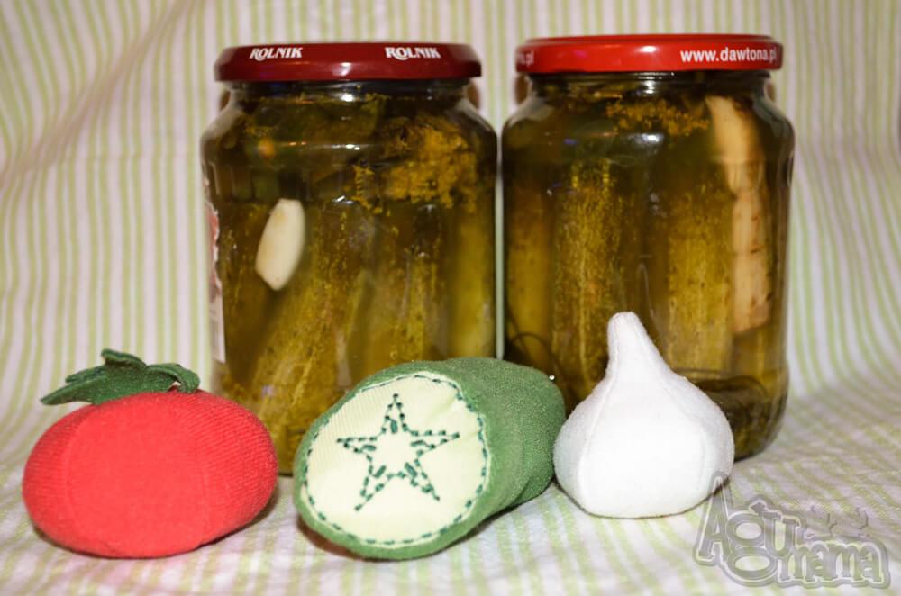 ogórki kiszone pluszowe warzywa