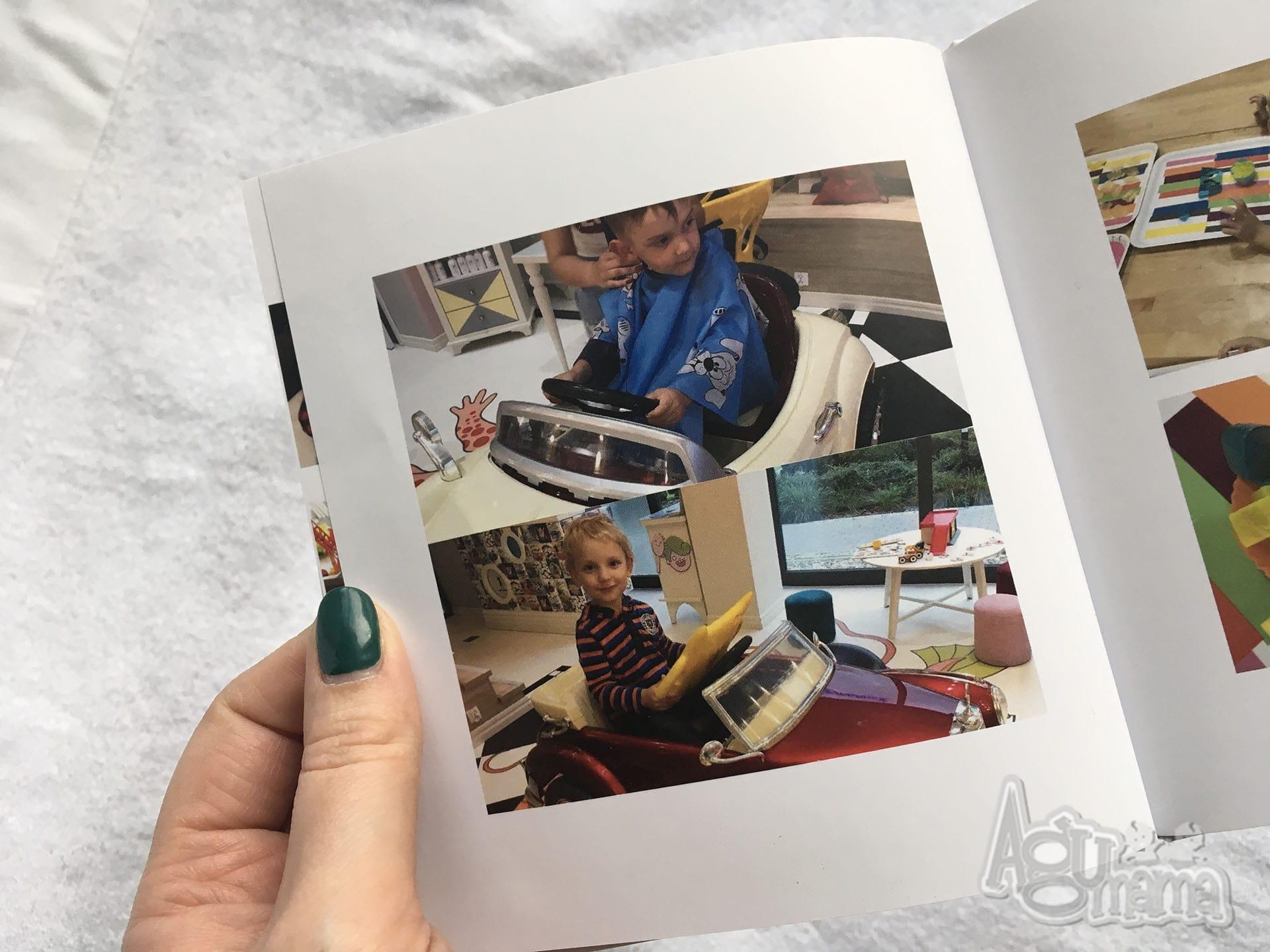 mama w delegacji minibook Printu