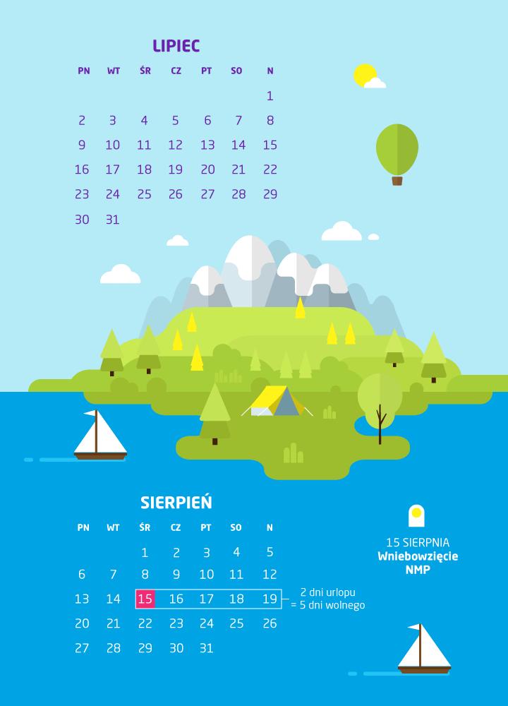 Kalendarz świąt i dni wolnych w 2018 roku