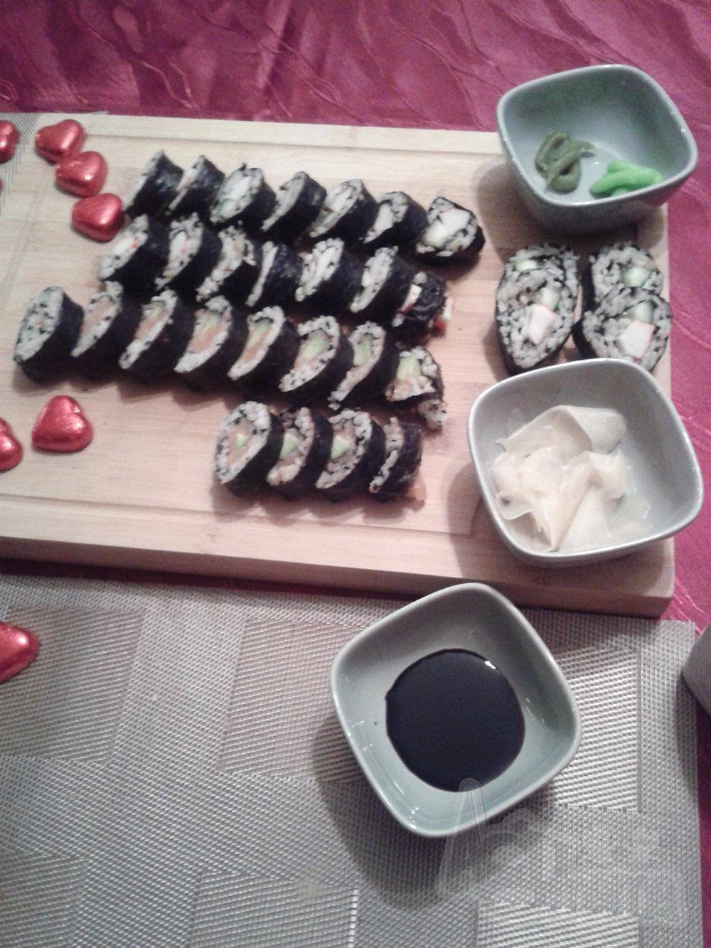 sushi na walentynki