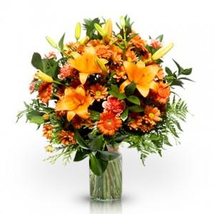 Miłość lilie i goździki