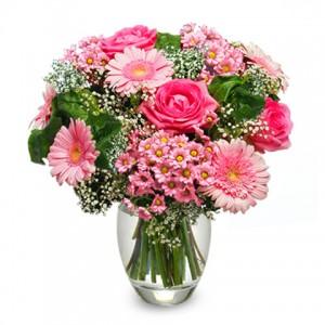 Miłość róże i gerbery