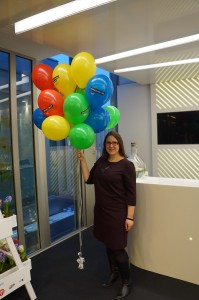 SEO Agumama z kolorowymi balonami