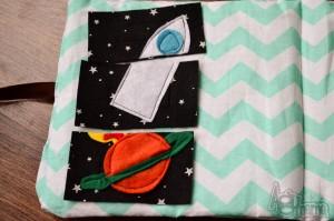książeczki sensoryczne puzzle rakieta