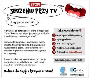 Logopeda krzyczy! Logopeda radzi stop jedzeniu przed tv