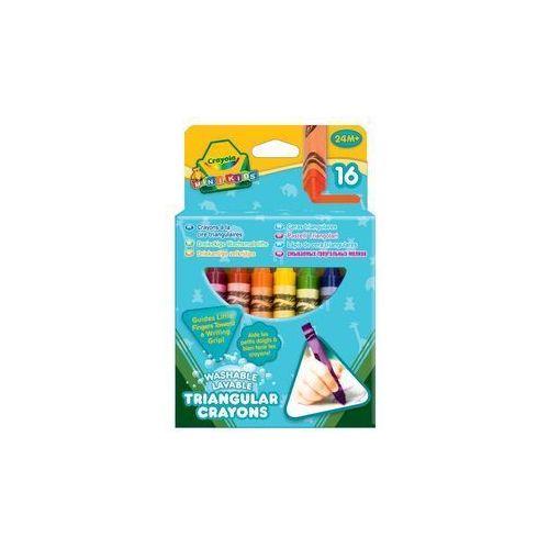 pierwsze kredki Crayola trójkątne