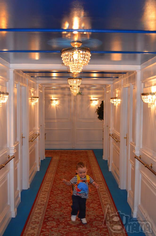 Titanic the Exhibition Żółwik na korytarzu