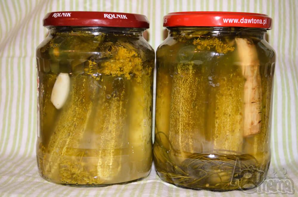 ogórki kiszone 2 słoiki