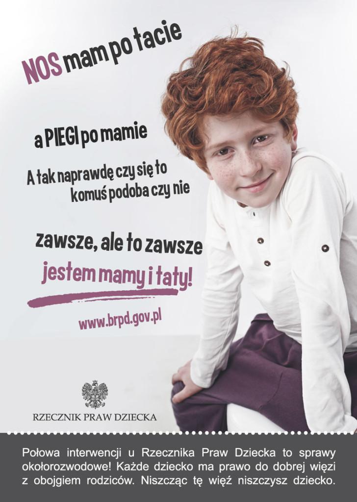 Gdy rodzic staje się hieną plakat kampanii