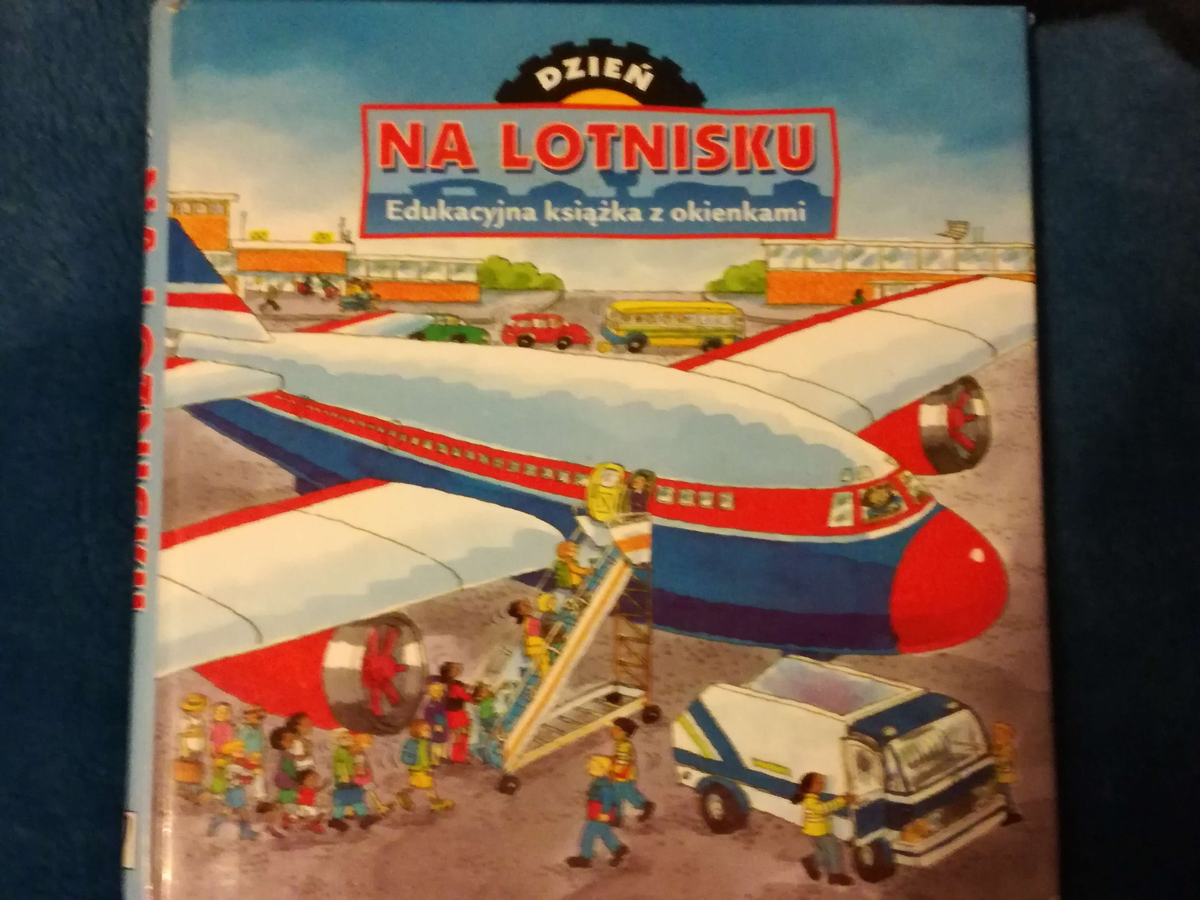 lot samolotem z dzieckiem książeczka Dzień na lotnisku