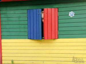 podróż samochodem z małym dzieckiem Zajazd Jurajski zabawa na placyku