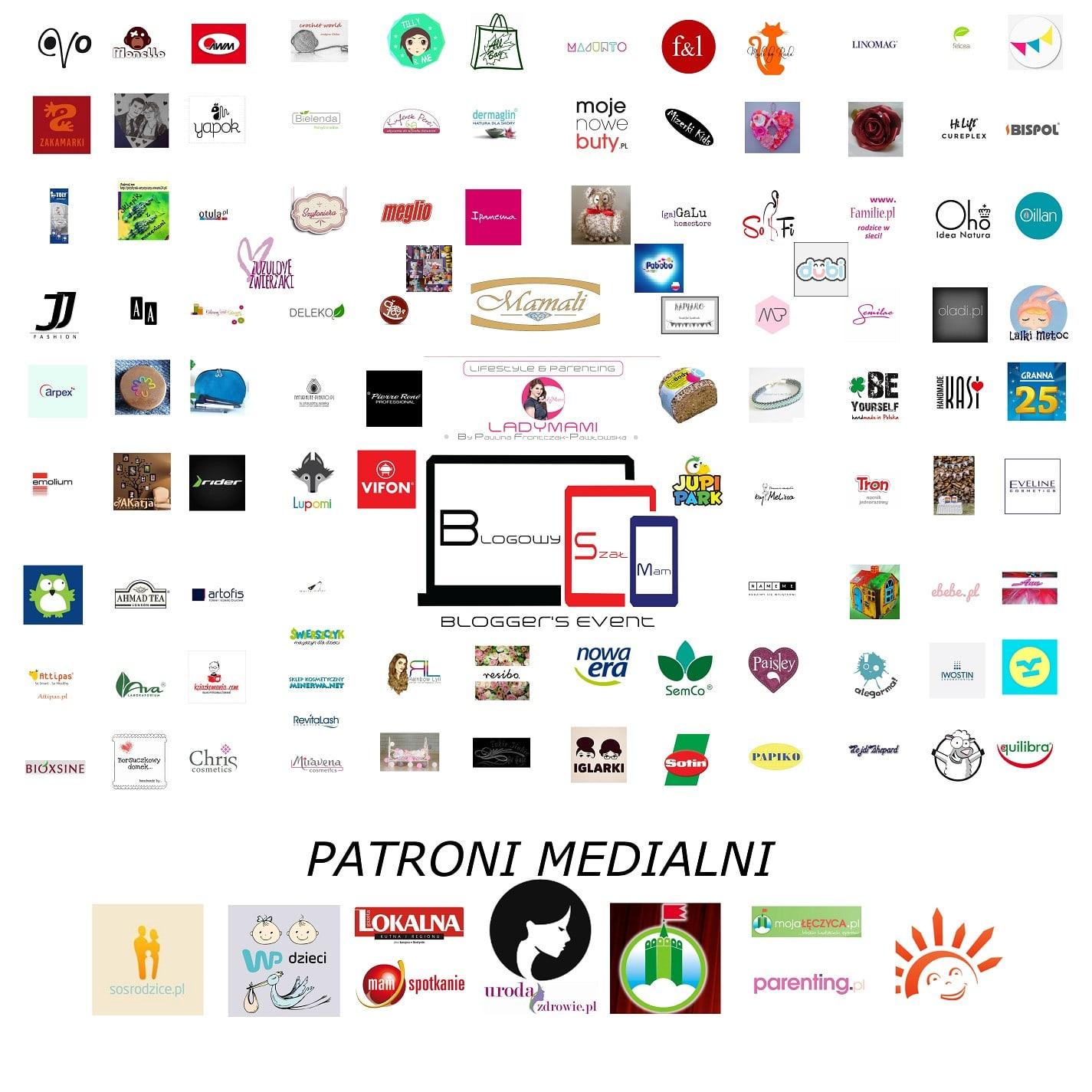 Blogowy Szła Mam 2016 plakat ze sponsorami