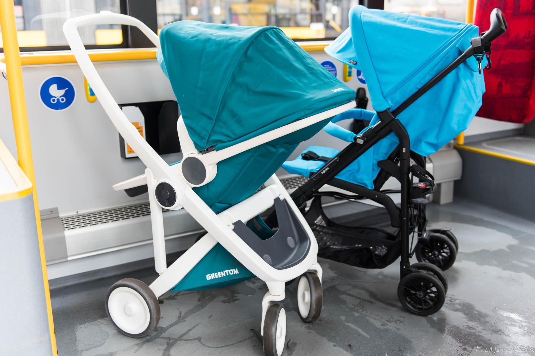 Jak bezpiecznie przewozić dziecko w komunikacji miejskiej wózki bokiem do kierunku jazdy