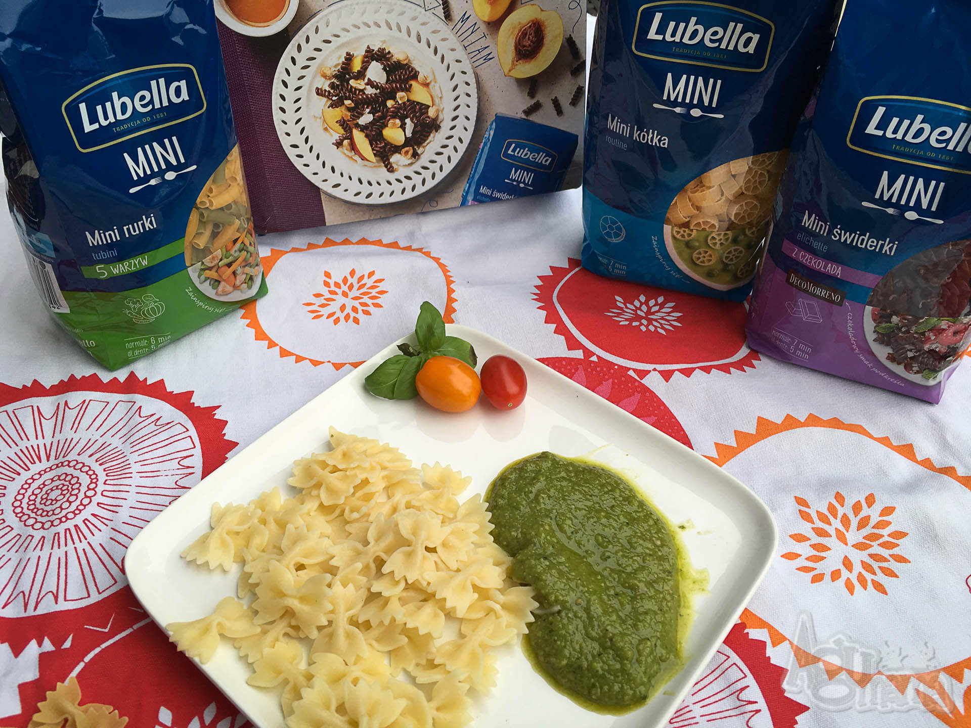 agumama makaron dla dzieci z pesto