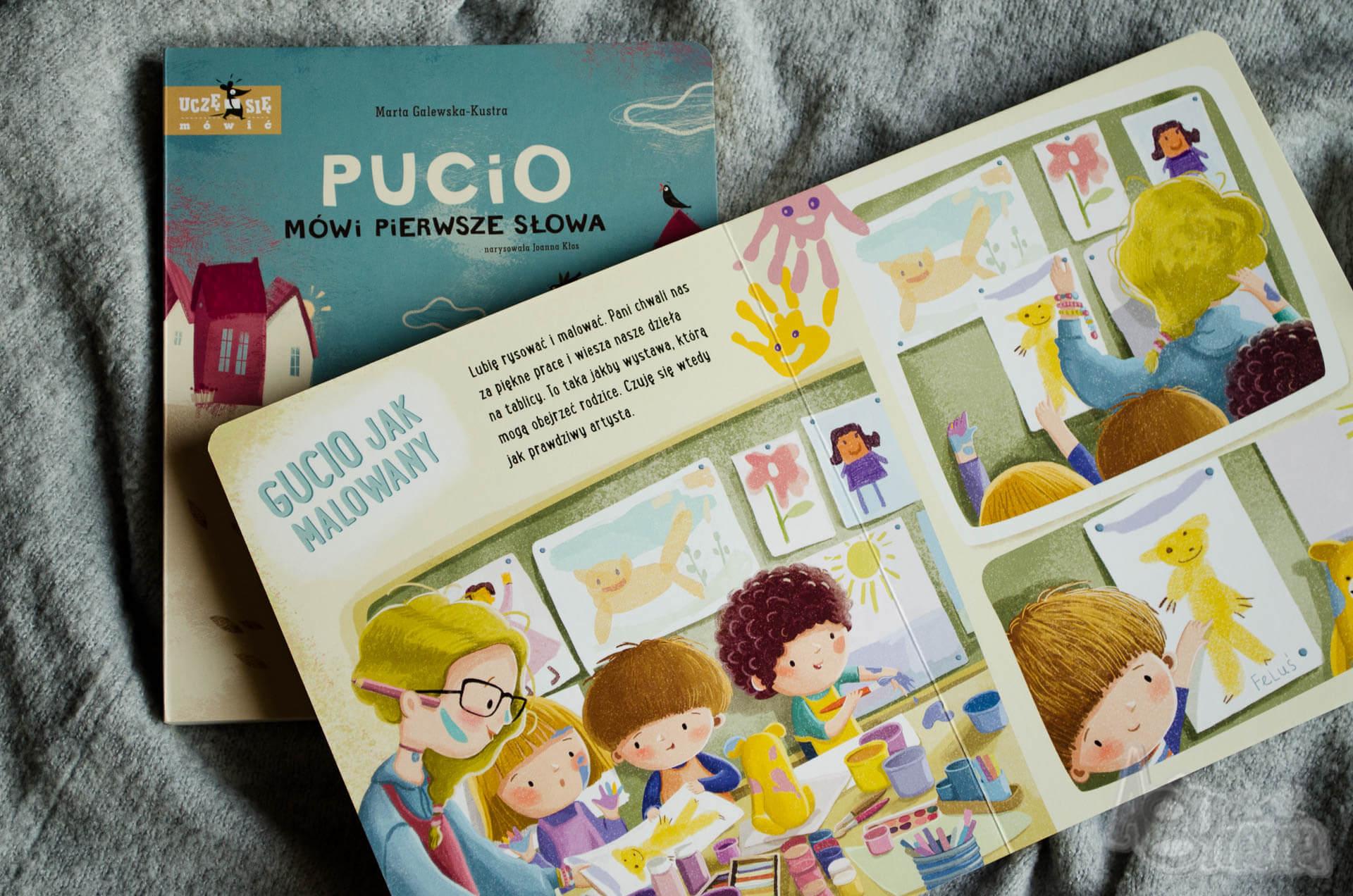 dziecko idzie do przedszkola Pucio mówi pierwsze słowa