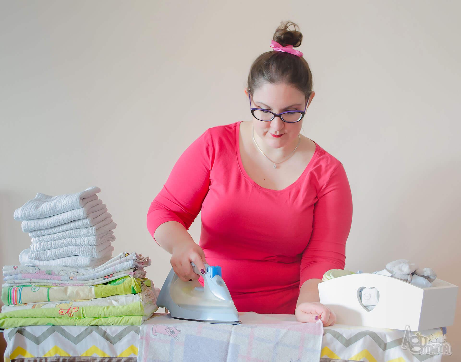 pranie i prasowanie ubranek dla noworodka