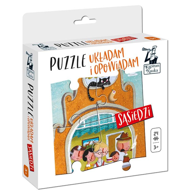 puzzle układam i opowiadam sąsiedzi