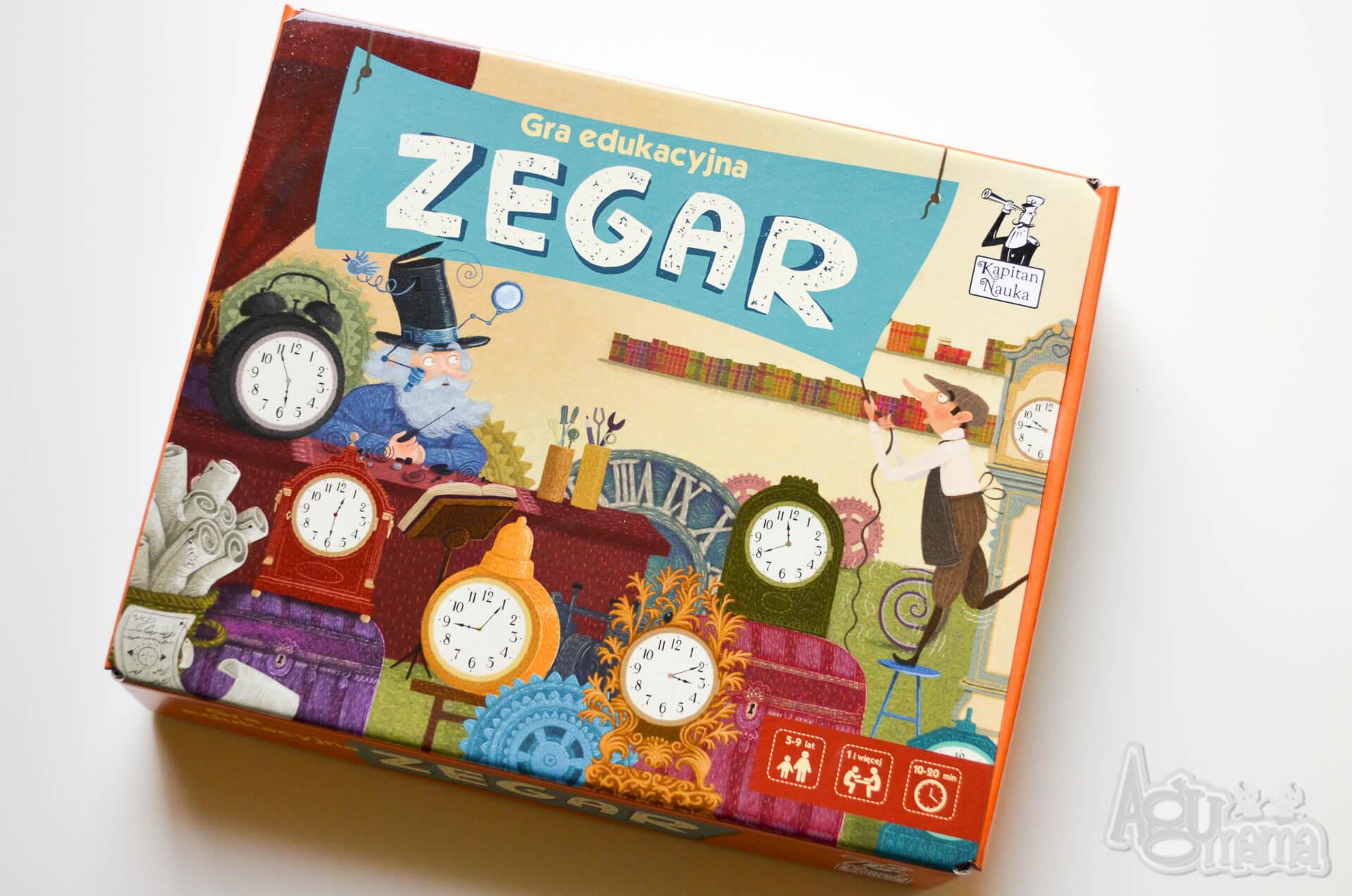 gra edukacyjna zegar pudełko