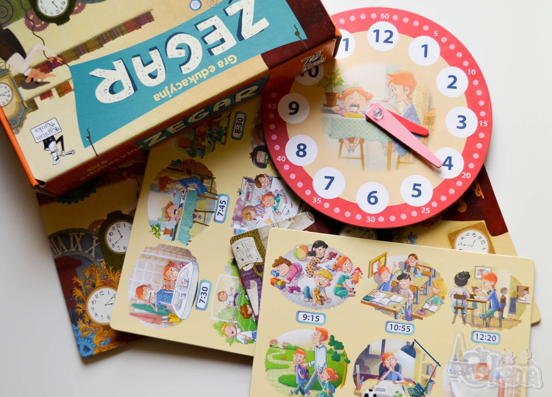gra edukacyjna zegar zestaw plansz