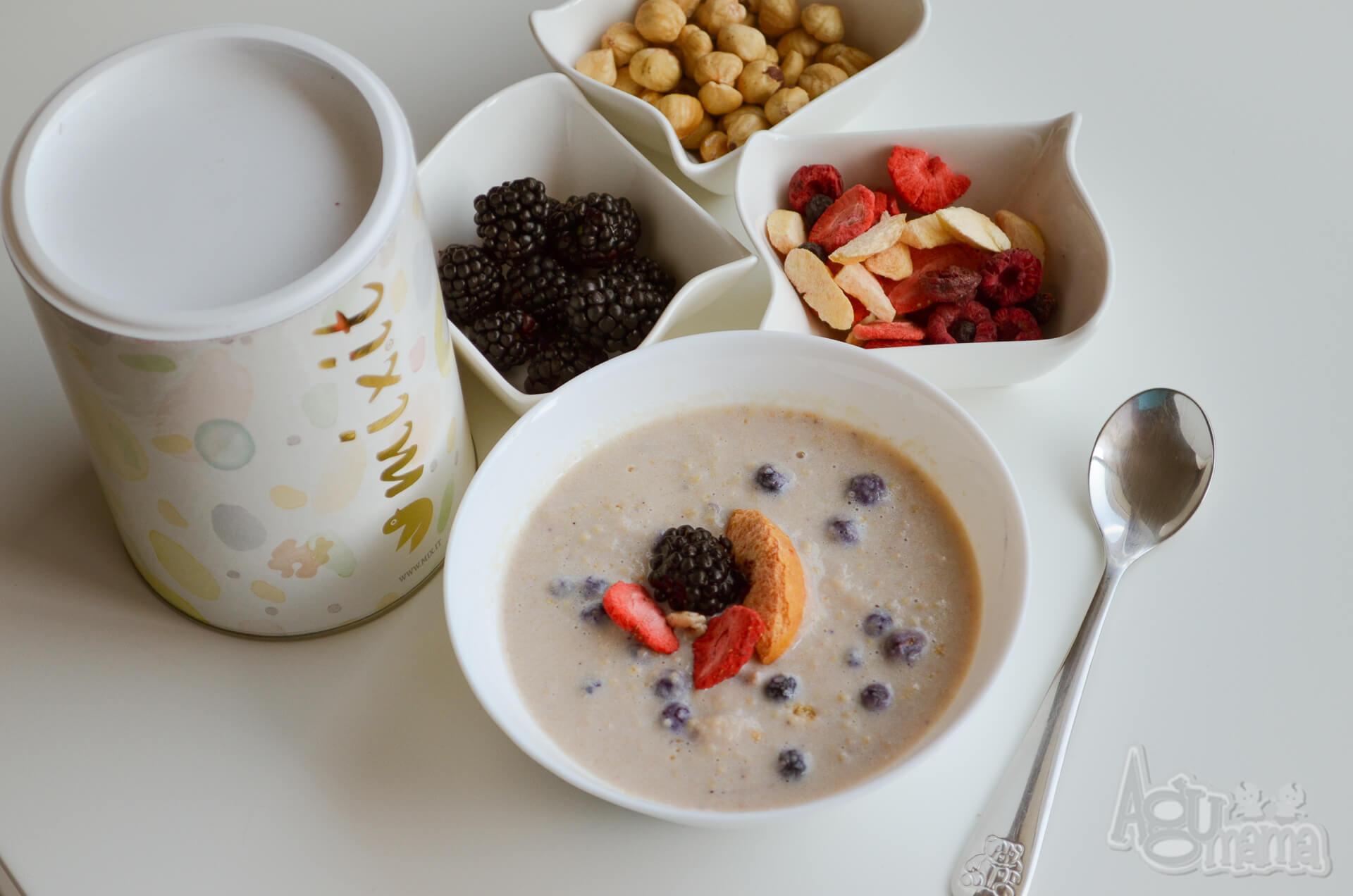 zdrowe śniadanie kasztanówka z jagodami mixit
