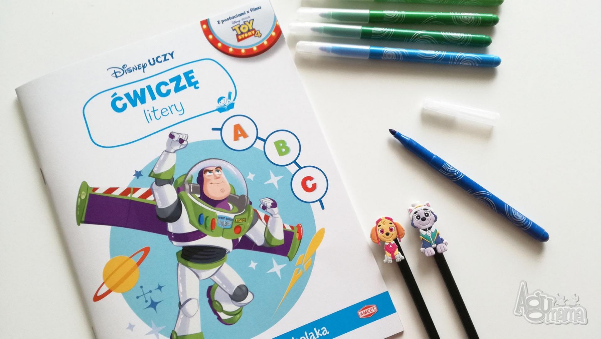 nowości Ameet ćwiczenia literowe z bohaterem Toy Story