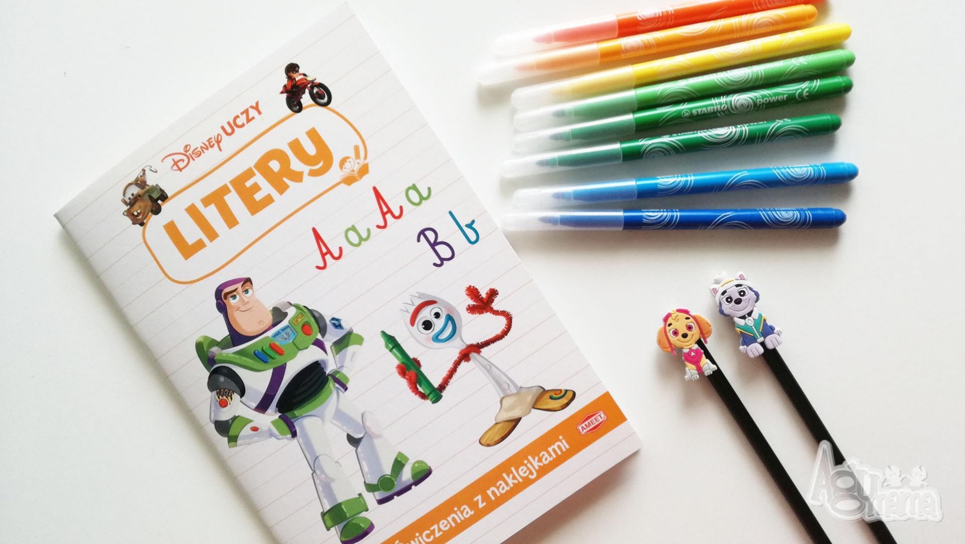 nowości Ameet zeszyt do ćwiczenia liter z bohaterami Toy Story