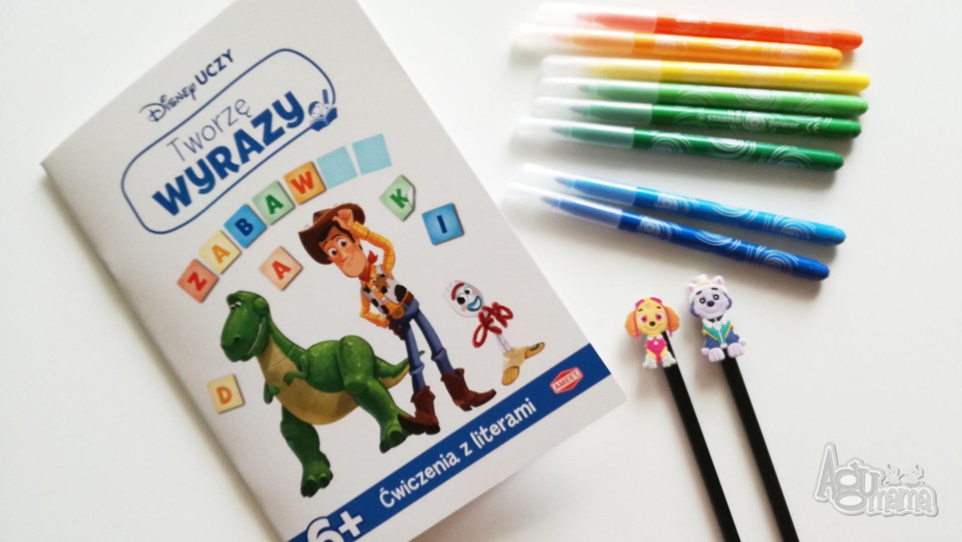 nowości Ameet zeszyt do ćwiczenia budowania wyrazów z bohaterami Toy Story