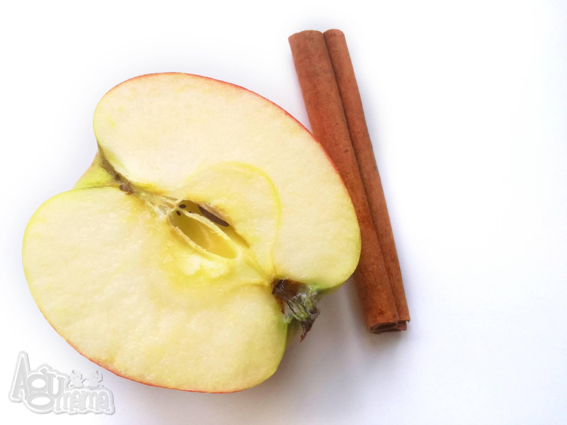 jabłko i laska cynamonu
