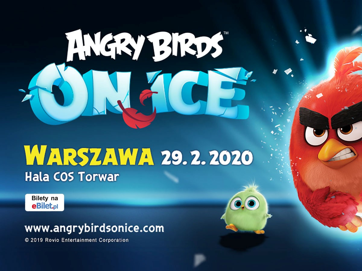 plakat rewii angry birds on ice